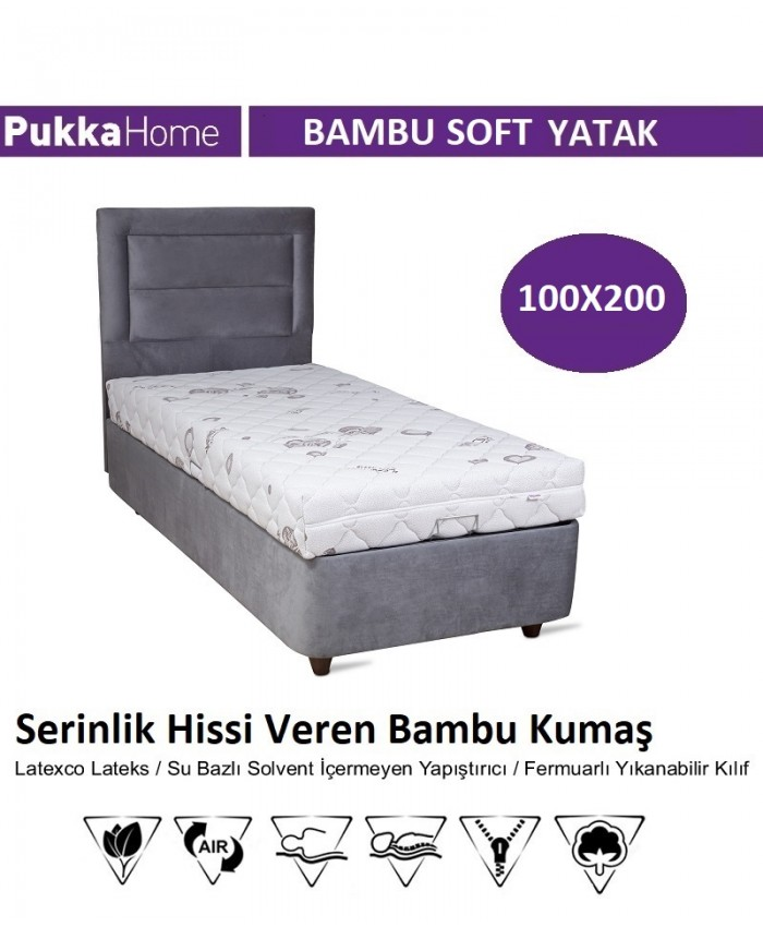 Bambu Soft 100X200 - Pukka Bambu Soft Yatak