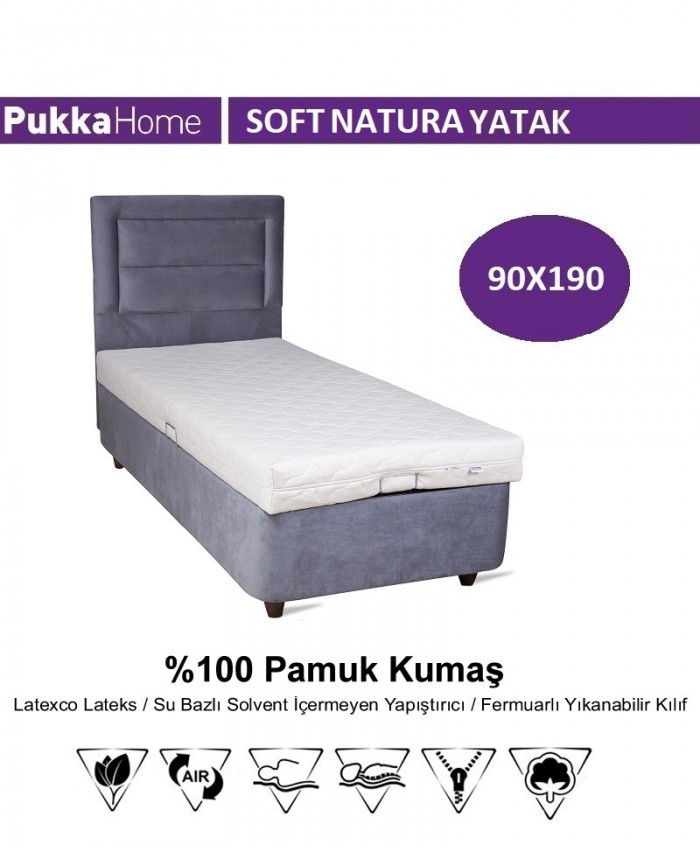Soft Natura 90X190 - Pukka Cotton Soft Natura Yatak